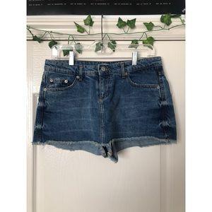 ZARA Cropped Jean Denim Short Skirt